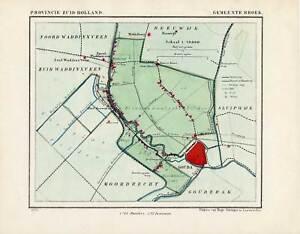 Antique Map-NETHERLANDS-TOWN PLAN-BROEK-ZUID HOLLAND-Kuyper-Kuijper-1865