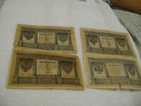 RUSSIA-(-1898-)-1 RUBLE-LOT of FOUR-(4)-Circulated Banknotes