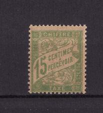 timbre France TAXE  15c vert jaune   num: 30 a   **  papier GC