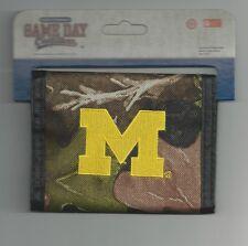 Michigan Wolverines M Logo Wallet Camo Camouflage Mens Bi-fold Wallet