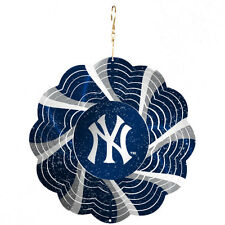 RARE NEW YORK NY YANKEES GEO METAL SPINNER CHRISTMAS TREE ORNAMENT HOLIDAY GIFT