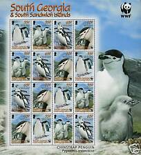 South Georgia 2008 Chinstrap Penguin Sht. SG 453/6 MNH