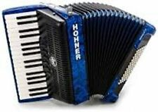 NEW Hohner BR72BL-N Bravo III Piano Blue Accordion 72 Bass 34 key 3 Reed