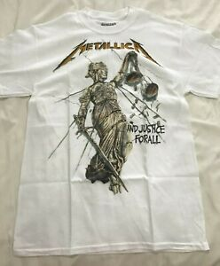 METALLICA And Justice For All WHITE T-Shirt Official Merch, 100% Genuine