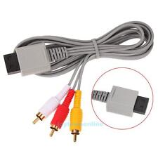 Audio Video AV Composite 3 RCA Cable Cord Adapter for Nintendo Wii Game Console