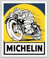 "MICHELIN MAN MOTORBIKE LOGO VINTAGE DECAL 4.05"" x 5.00"" AMERICANA RRP £9"