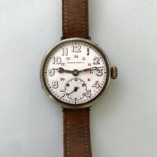 Tavannes Watch C° militaire montre de tranchée vers 1914 military trench watch