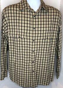 Vintage Harley Davidson Plaid Long Sleeve Snap Up Shirt, Hong Kong, Men's Medium