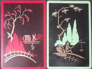 """Swap cards vintage - PAIR OF GENUINE VINTAGE """"SCENES FROM CHINA"""""""