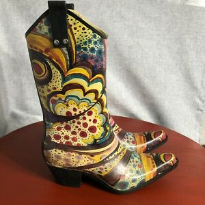 Nomad Women's Size 8 Shoes Colorful Spot Pull On Waterproof Rubber Rain Boots