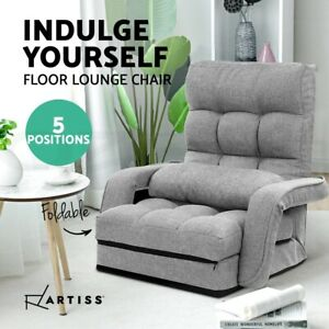 Artiss Lounge Floor Sofa Bed Armchair Recliner Chaise Linen Chair Adjustable