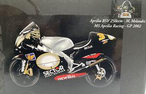 APRILIA RSV250 model racing bike Marco MELANDRI 1:12th MINICHAMPS 122 020003