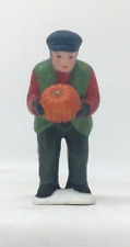 Dept 56 New England Village - Harvest Time 59412 Farmer W/ Pumpkin Figure New