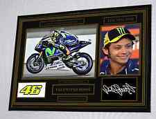 """Valentino Rossi Large  Black Framed  Signed """"Great Gift"""" LIMITED EDITION 9 ONLY"""