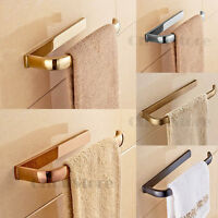 Bathroom Wall Mounted Brass Towel Rack Hand Towel Ring Holder Hanger Single Bar