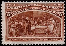 United States Scott 234 (1893) Mint NG F, CV $50.00 D