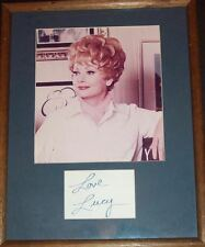 LUCILLE BALL  (COLORED PHOTO FRAMED) WITH SIGNATURE