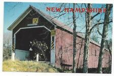 POSTCARD   SAWYER'S CROSSING COVERED BRIDGE  NEW HAMPSHIRE EAST SWANZEY  H-204