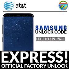 AT&T UNLOCK CODE SAMSUNG GALAXY S S2 S3 S4 S5 S6 S7 S8 NOTE MEGA TAB SERVICE