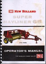 "New Holland ""Super Hayliner 68"" Baler Operator Instruction Manual Book"