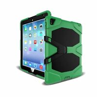 """Heavy Duty Hybrid Silicone Hard Shockproof Case Cover Stand For iPad 9.7"""" 2017"""
