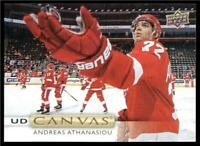 2019-20 Upper Deck UD Canvas #C13 Andreas Athanasiou - Detroit Red Wings