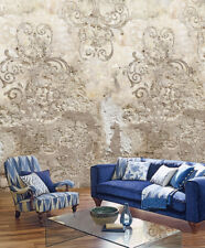Vlies Foto Tapete Steinwand antik Ornament Mediteran verwittert 200x300cm