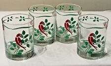 NIKKO DAVID DAVIR BELLS & HOLLY RARE? SET OF 4 ROCK WHISKEY TUMBLERS #120 EUC