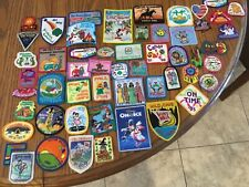 50 + VINTAGE GIRL SCOUT PATCHES - Aug. C  - see photos