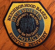 DES MOINES IOWA POLICE NEIGHBORHOOD BASED SERVICE DELIVERY NBSD UNIT  PATCH NEW