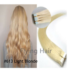 16'' #613 Light Blond Straight Glue-Thick Tape In Human Remy Hair Extensions UK