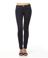 RIDERS by LEE LOW SUPER SKINNY WOMENS GIRLS JEANS - DARK BLUE SIZE 9