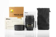 Boxed AF-S Micro Nikkor (Nikon) 60mm f/2.8 G ED + Hoya Pro Digital filter