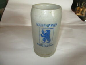 Alter Bierkrug, 1 Liter Bärenbräu Neustadt w.n.