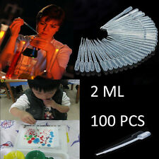 100PCS x 2ML Graduated Pipettes Disposable Pasteur Plastic Eye Dropper Set