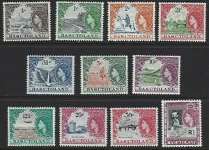 BASUTOLAND 1961 QEII New Currency Pictorial Set to 1R (11) MNH