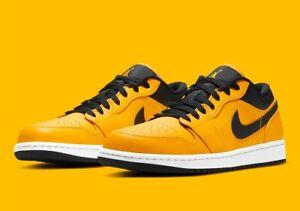 Nike Air Jordan 1 Low Retro University Gold Black (553558-700) Men's Size 8