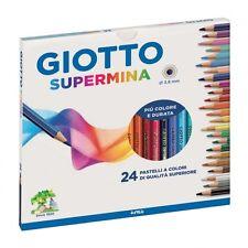 Colori Scuola Pastelli GIOTTO SUPERMINA Matite Colorate 3,8 MM Confezione da 24