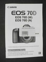 #2 Canon EOS 70D Camera Instruction Book / Manual / User Guide
