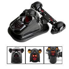 Motorcycle Skull Tail Brake Stop Light + 2 LED Turn Signal Lamp For Harley Honda