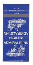 Admirals' Inn Alexandria Bay New York Vintage Matchbook Cover B90