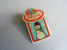 Cool Home Depot Hardware Store Kids Workshop Snowman Collectible Pin Pinback