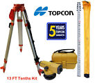 Topcon AT-B4A 24x Automatic Level with 13 FT Tenths/Height Survey Rod & Tripod