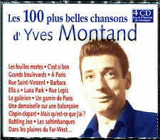 YVES MONTAND - LES 100 PLUS BELLES CHANSONS - 4 CD BEST OF