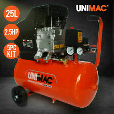 UNIMAC Air Compressor 25L 2.5HP Electric Portable Inflator Direct Tank Pump Oil