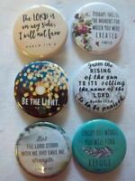 "1.5"" Christian Set #4~ 6-pk Novelty Buttons/Pins: For backpacks, Jackets & More"