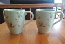 Set of 2-    222 Fifth Coffee Mug  Butterfly Blossom Cups