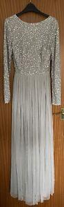Quiz Bridesmaid Dress Silver Sequin Size 20