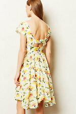ANTHROPOLOGIE by LIL Spring Flora Dress Yellow Motive Cotton size 12 L NEW NWT