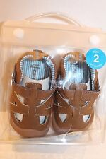 Carter's Astor Brown Leather Sandal Walking Shoes Size 2 Infant Boy 6-9 Months